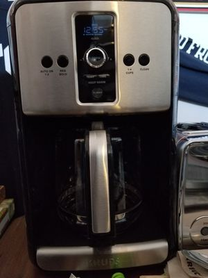12 Cup-Krups Coffee Maker/ Stainless Steel for Sale in Victorville, CA
