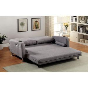 GRAY COUCH FUTON ADJUSTABLE BED CUP HOLDERS SPEAKERS / SILLON CAMA for Sale in North Hollywood, CA