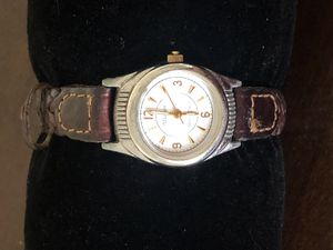 Gold and leather watch for Sale in San Diego, CA
