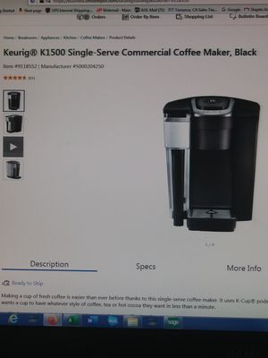 Keurig k1500 single serve commercial coffee maker for Sale in Long Beach, CA