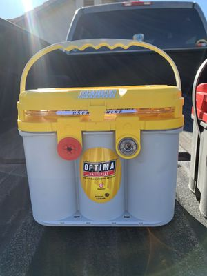 New OPTIMA Yellowtop D34/78 Dual Mount Deep Cycle High Performance Battery New With 10/19 Sticker 3 yr warranty $150 firm for Sale in Corona, CA
