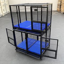 brand new $330 set of (2) stackable heavy-duty dog cage 41x31x65 inches for Sale in La Mirada,  CA
