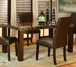 Marble Dining Room Table with chairs for Sale in Normal, IL