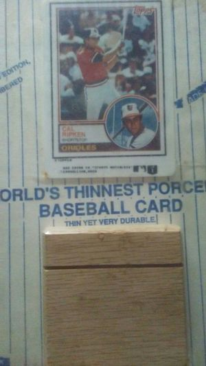 RARE PORCELAIN Topps Baseball Card . Serial numbered and comes with its own stand for Sale in Shelby, NC