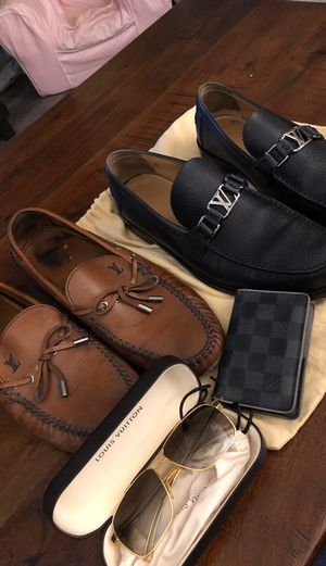 Louis Vuitton Wallet, Sunglasses, Shoes (Loafers) package deal for Sale in Fountain Valley, CA