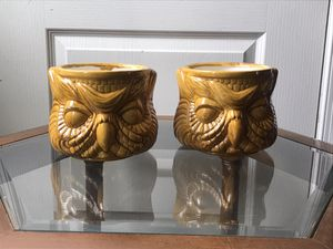 Vintage Ceramic Owl Flower Pots for Sale in Washington, DC