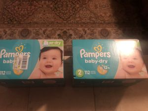 Pampers baby dry size 2 112 diapers for Sale in Glendale, AZ