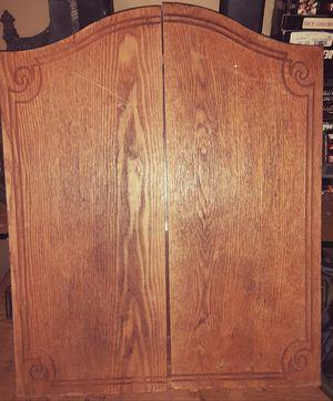 Wooden dart board cabinet for Sale in Killeen, TX