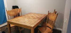 Solid wood dining table for Sale in Evergreen, CO