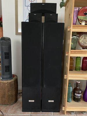 Pioneer Tower Speakers and Sony Surround and Center Speakers for Sale in Las Vegas, NV