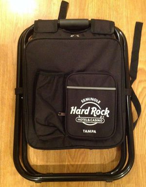 HARD ROCK CAFE Backpack Cooler Chair Seat - Concert Stadium Tailgate B for Sale in Largo, FL
