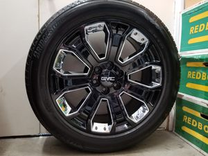 "OEM 22"" GMC Denali Escalade Yukon Sierra Factory Wheels Rims Black Bridgestone Tires for Sale in Los Angeles, CA"