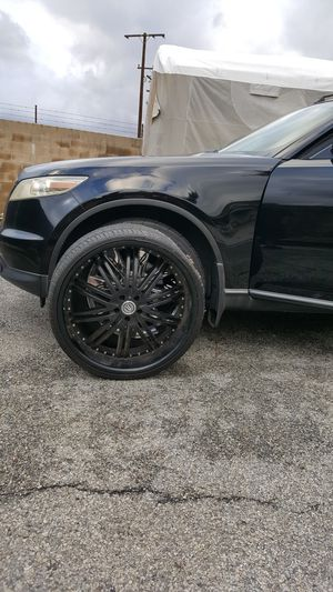 """24"""" INCH BLACK RIMS WHEELS 5X114.3 for Sale in Temple City, CA"""