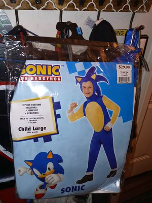 Sonic child large Halloween costume for Sale in Rancho Cucamonga, CA