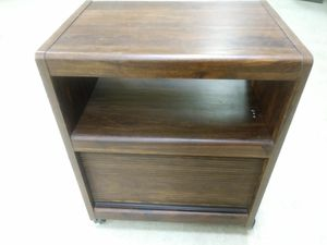 Dark brown rolling microwave cart with storage below for sale for Sale in St. Louis, MO
