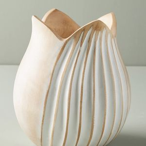 Anthropologie Lotus Mango Wood Vase for Sale in Long Beach, CA