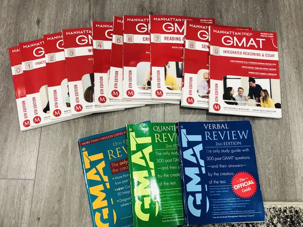 GMAT books , almost new! Sale!