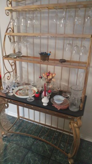 Baker's Rack for wine and glasses for Sale in Round Rock, TX