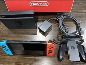 Nintendo Switch 32GB Gray Console with Neon Red and Neon Blue Joy-Con for Sale in Brooklyn, NY