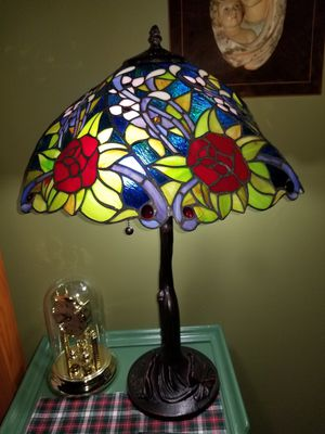 Beautiful two table lamps stained glass tiffany style for Sale in Miami, FL