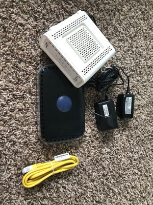WiFi Router and Modem combo (Netgear N600, Arris Surfboard) for Sale in Beaverton, OR