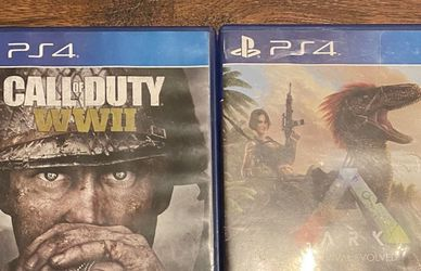 2 Ps4 games great condition (Cod WWII & Ark survival evolved) for Sale in Fresno,  CA