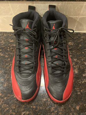 Nike Air Jordan 12 Flu Game Size 17-lightly Used- Black Red Bred 130690-002 for Sale in Chicago, IL