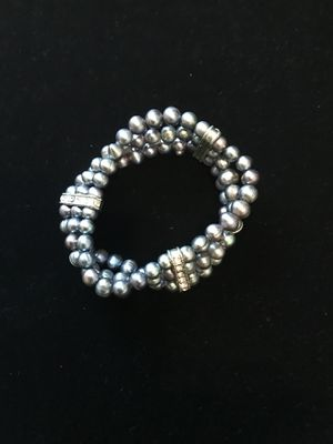 Dark grey freshwater pearl bracelet (elastic and stretchy) for Sale in Lynchburg, VA
