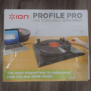 Ion Profile Pro Vinyl To Mp3 USB Turntable for Sale in Seattle, WA