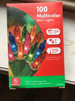 New Christmas decoration lights 100 multicolor for Sale in Jersey City, NJ
