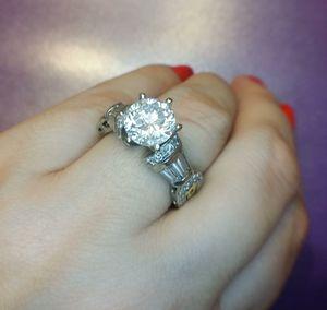 2.50 carat certified platinum diamond ring for Sale in Atlanta, GA