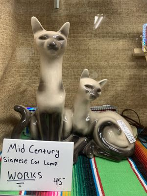 Mid Century Siamese Cat Lamp for Sale in Orange, CA