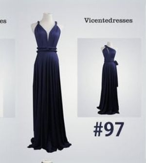 Dark Navy Blue Convertible Bridesmaid Prom Dress for Sale in Robbinsdale, MN