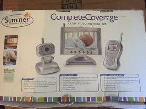 """Summer Infant Complete Coverage Color Video Monitor Set with 7"""" LCD Screen and 1.8"""" Handheld Unit for Sale in Nashville, TN"""