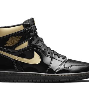 Jordan 1 Retro High Black Metallic Gold (2020) Size 7 Men's for Sale in Germantown, MD