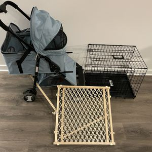 Puppy Essentials Pack - Convertible Stroller, Crate, and Gate for Sale in Washington, DC
