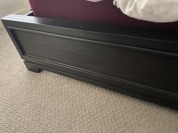Cal King bed frame with top Pillow mattress with foam topper