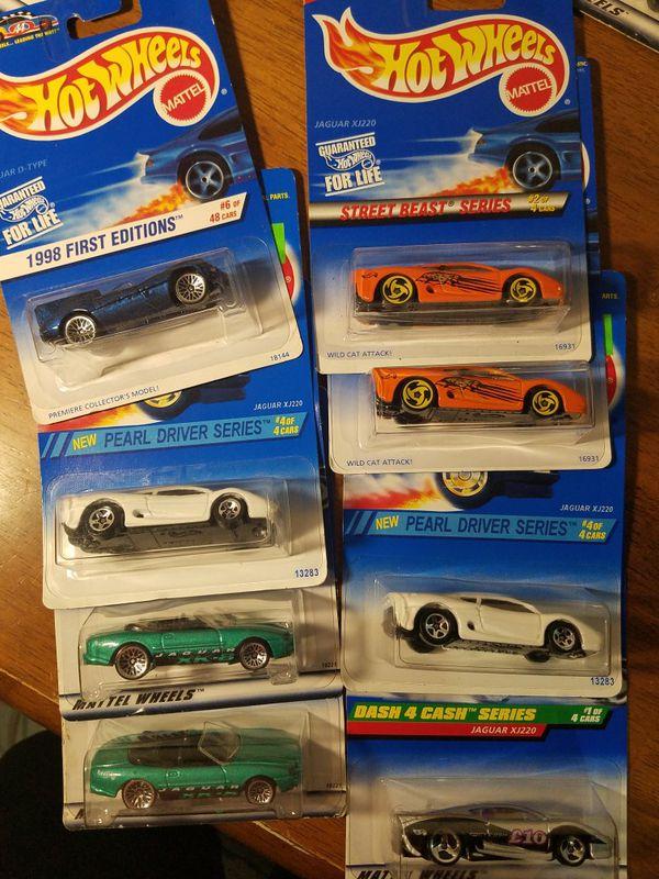 Hot Wheels Jaguar lot of 8