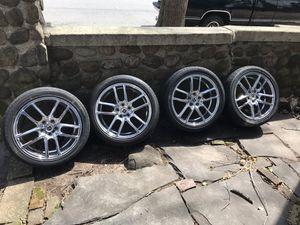 Set of 4 GWG Wheels 18 inch Chrome 18x8 Rims 5x120 +40 CB74.1 . for Sale in Woodbridge Township, NJ