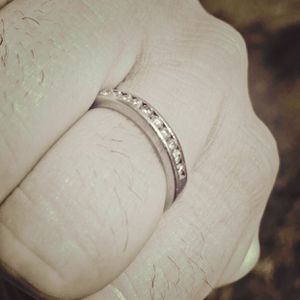 Diamond White Gold Wedding Rings Band for Men For Sale for Sale in Rancho Cucamonga, CA