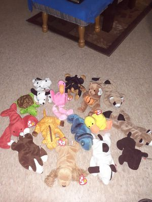 16 beanie babies for sale for Sale in Milwaukee, WI