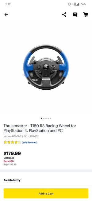 Thrustmaster T150 for Sale in Fort Worth, TX