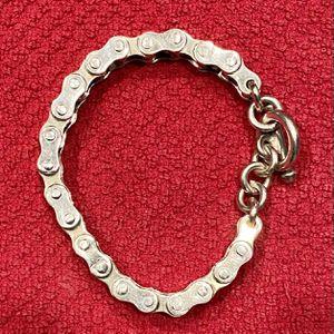 Solid Sterling Silver Biker Bracelet, Bike Chain Bracelet - Heavy for Sale in Gilbert, AZ
