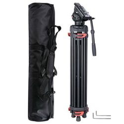 """71"""" DV Video Camera Adjustable Tripod Stand Fluid Pan Head Portable Travel for Sale in Chino,  CA"""