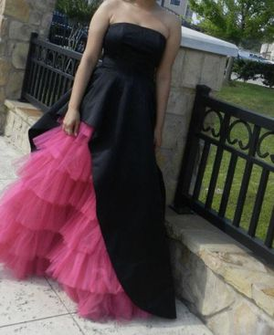 Betsey Johnson Hot Pink Ruffle Gown for Sale in Houston, TX