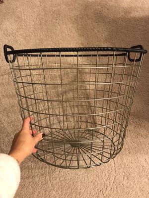Wire floor basket black for Sale in Falls Church, VA
