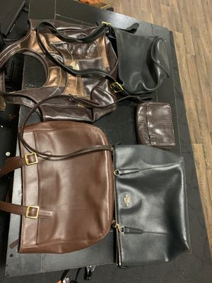 5 Purses All leather Coach and Nine West for Sale in Round Rock, TX