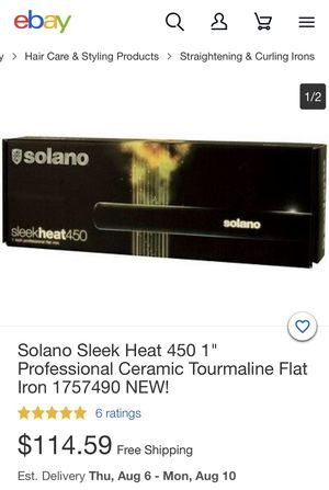 Solano Sleek Heat Flat Iron for Sale in Lincoln Acres, CA