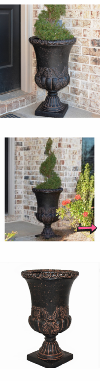 NEW Decorative Sonnet Cast Stone Planter Indoor Lightweight Charcoal Patio Flower Porch Entrance Beautiful Pool Area Natural Outdoor *↓READ↓* for Sale in Chula Vista, CA