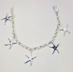 """""""THE SILVER STARFISH!"""" Gorgeous .925 Stamped Sterling Silver starfish charms bracelet NEW! for Sale in Carrollton, TX"""